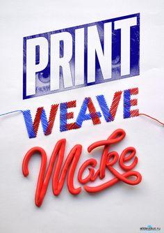 Типографика. 35 новых крутых примеров. Дизайнерам, как всегда, на заметку - смотрим, завидуем, учимся!