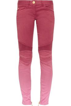 Balmain Ombré low-rise skinny jeans | THE OUTNET