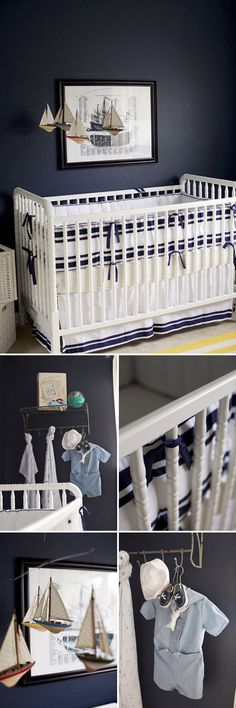 Nautical Themed Nursery (September 2013 Pinner: @Cristin Harrell Priest | Simplified Bee)