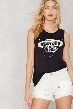 Social Decay Out of This World Muscle Tank   Shop Clothes at Nasty Gal!
