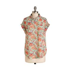 ModCloth Mid-length Cap Sleeves Lawn Bowling Champ Top