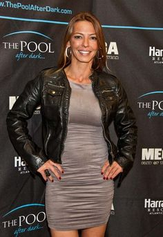 """Mob Wives"" castmate Drita D'Avanzo at The Pool After Dark Mob Wives, Red Carpet Looks, After Dark, Sexy Women, Leather Jacket, Celebs, Jackets, Stars, Fashion"
