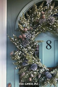 WOW! This post was amazing and every single wreath what STUNNING! I am so happy I found it before I started decorating! Christmas Wreaths For Windows, Christmas Decorations For The Home, Christmas Lights, Diy Christmas, Decor Ideas, Decorating, Amazing, Happy, House