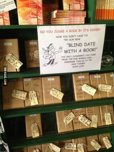 """This """"blind date with a book"""" is a great way to get kids to try new books!"""