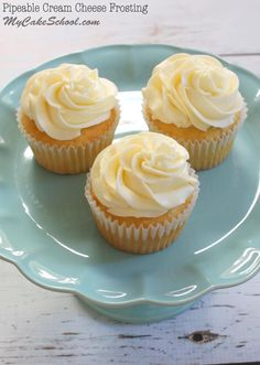 A delicious Cream Cheese Frosting recipe that is delicious and pipes beautifully! MyCakeSchool.com