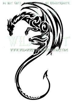 Tribal winged dragon