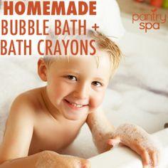 DIY Natural Bath Crayons & Homemade Bubble Bath Recipes | Pantry Spa