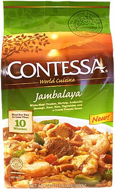 Really tasty & filling. And only 360 calories per serving (2 in the bag)
