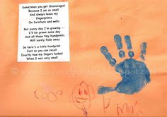 Handprint Keepsake with Poem