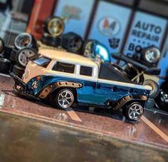 Custom Hot Wheels, Hot Wheels Cars, Custom Cars, Rc Cars And Trucks, Diecast Models, Kustom, Hot Rods, Volkswagen, Diorama
