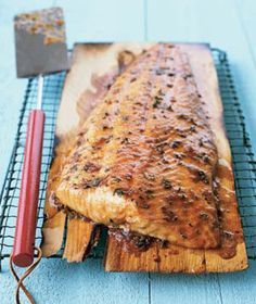 I actually made this BEFORE I pinned it. Cedar-Plank Salmon.  It was delicious!