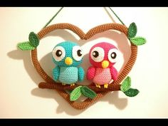 Crochet Love Birds - Love Birds Haken [Amigurumi] - YouTube