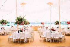 At Home PapaKåta Sperry Tent Wedding with Pink Centrepieces, Delphine Manivet Wedding Dress & Mroning Suits Wedding Marquee Hire, Tent Wedding, Wedding Reception, Dream Wedding, Delphine Manivet Wedding Dresses, Pink Centerpieces, Luxury Tents, Sailing Outfit, Closer To Nature