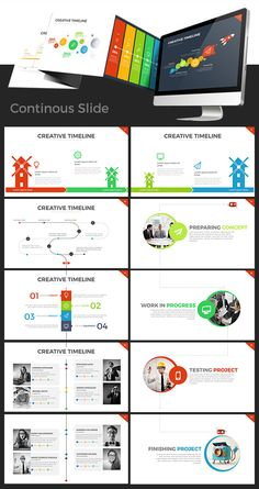 Project Timeline PowerPoint Presentation Template is PowerPoint Template that containing Infographic that with Timeline style, can be used to explaining your business timeline/process/steps in pres...