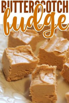 Butterscotch fudge is a simple and delicious dessert made with only two surprising ingredients. No one will guess how you did it!Kind of sounds Harry Potterish, right? I know, I know, I'm totally on Single Serve Desserts, Desserts For A Crowd, Winter Desserts, Delicious Desserts, Kid Desserts, Butterscotch Fudge, Hot Chocolate Fudge, Chocolate Deserts, Caramel Apple