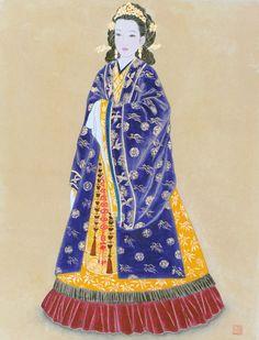 Korean elegance woman by Bak Yeun-ok  박연옥 미인도(美人圖)