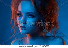 Bildergebnis für red blue portrait