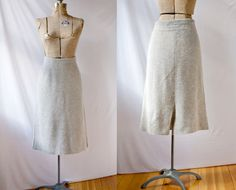 Gray Sweater Skirt Vintage 1980's Ribbed by PomegranateVintage, $30.00