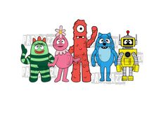 Yo Gabba Gabba SVG Electronic cutting files for Cricut Design Space - Silhouette Studio by PapperazziCo on Etsy