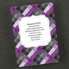 This shimmery, bright white plaid invitation is perfect for any event. Engagement Invitation Cards, Free Wedding Invitations, Invitation Ideas, Invites, Party Items, Grape Vines, Save The Date, Wedding Bride, Announcement