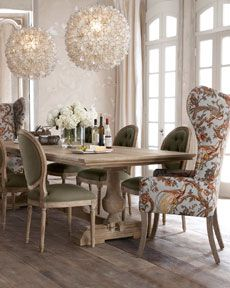 "-36HN ""Evelyn"" Dining Table, ""Blanchett"" Side Chair, and ""Pheasant"" Host Chair"
