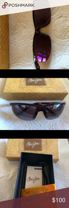 Maui Jim unisex sunglasses Maui Jim sunglasses NEW. Have to wear RX ones right after I got these. Brown tortoise frames unisex Very light weight Maui Jim Accessories Sunglasses