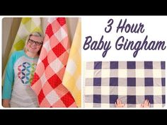The Baby Gingham Quilt (Fat Quarter Shop's Jolly Jabber) Quilting For Beginners, Quilting Tutorials, Quilting Projects, Quilting Designs, Beginner Quilting, Msqc Tutorials, Sewing Projects, Quilt Baby, Baby Quilt Patterns