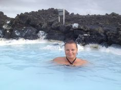 Gina Pacelli at the Blue Lagoon, #Iceland  #GinaPacelli #BlueLagoon #roadlesstraveled #travel   Read more about my Iceland #adventure: http://www.ginapacelli.com/2013/12/19/iceland-land-of-fire-and-ice-land-elds-og-isa/