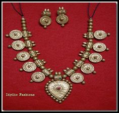 Beautiful Handmade Terracotta Jewelry by Idyllicfashions on Etsy