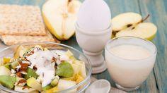 Diät, Apfel, Ei, Joghurt, Nuss