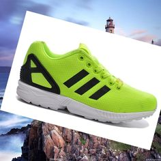 Neon-Green/Black Women's Adidas Zx Flux Sneakers,Modern sneakers up to 80% off must be of your interest.