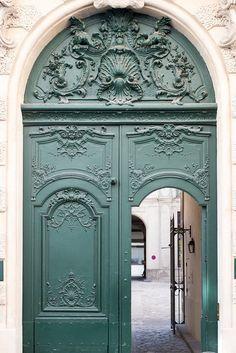 Paris Photography Green Door in Paris Paris Photo Print Cool Doors, Unique Doors, Cheap Doors, Entrance Doors, Doorway, Door Entryway, Ile Saint Louis, St Louis, Photo Print