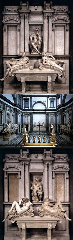 Miguel Angel. Capilla Laurebciana. Sepucros de los Medici