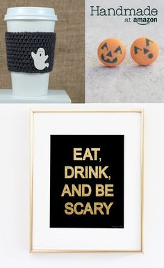 Awesome Get ready for Halloween with artisan-created décor and accessories from Handmade at . Creepy Halloween Decorations, Halloween Party Decor, Halloween Night, Halloween Gifts, Holidays Halloween, Vintage Halloween, Happy Halloween, Easy Fall Crafts, Holiday Crafts