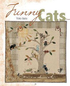 Funny Cats quilt pattern by Yoko Saito