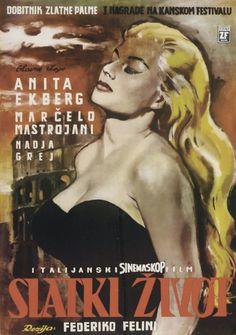 LA DOLCE VITA (Dir. Federico Fellini, 1960) Yugoslavian poster