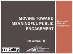 MOVING TOWARD MEANINGFUL PUBLIC ENGAGEMENT