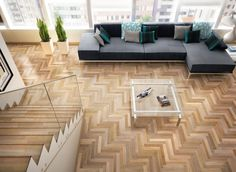 "Contemporary Living Room from ""Incredible Parquet Floors"". See more at HomeDesignBoard.com"