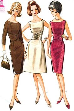 1963 McCalls sewing pattern illustrations.