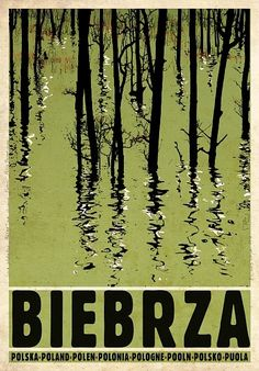 Biebrza, Biebrzanski Park Narodowy - Promotion poster Check also other posters from PLAKAT-POLSKA series Original Polish poster designer: Ryszard Kaja year: 2012 size: Vintage Travel Posters, Vintage Ads, Graphic Design Illustration, Graphic Art, Polish Movie Posters, Tourism Poster, Art Deco Posters, Contemporary Paintings, Design Art