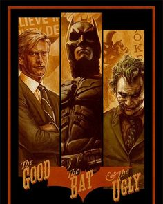 The Dark Knight - The Good, the Bat & the Ugly poster on Behance Batman Poster, Batman Artwork, The Dark Knight Poster, The Dark Knight Trilogy, Joker Dark Knight, Batman Wallpaper, Batman Kunst, Culture Pop, Art Vintage