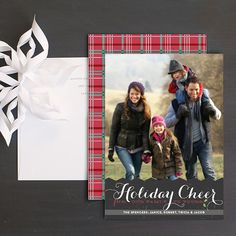 Holiday Cheer Christmas Photo Card by Elli