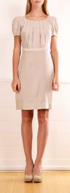 Stella McCartney Light Grey Silk Chiffon Shift