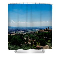 Assisi Shower Curtain by Cesare Bargiggia