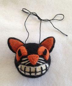 Needle Felted Vintage Cat Ornament Variant by SpooksandSpires