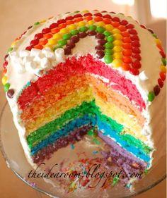 Rainbow Cake: recipe link- http://www.theidearoom.net/2009/07/rainbow-layer-cake.html