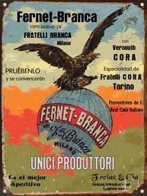 Carteles De Chapa, Publicidades Antiguas, Fernet Branca