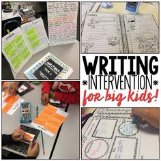 Musings from the Middle School: Writing Intervention for Big Kids Writing Classes, Writing Lessons, Writing Workshop, Teaching Writing, Teaching Tips, Workshop Ideas, Writing Strategies, Writing Resources, Writing Activities