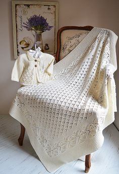 Ravelry: Lace and Diamond Blanket and Jacket -P098 by OGE Knitwear Designs