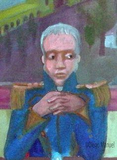 Primera Junta de 1810, acrilico sobre lienzo , sin marco 48 x 41 cm., 2010. Cuadro en venta de la Serie Historia Argentina del artista plastico Diego Manuel